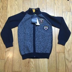 Blue Seven Boys Zip Knit Jacket With Patches 6